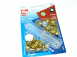 Eyelets with Washers : Prym 541375- Gold - 8mm - 24 sets